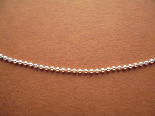 Diamond Cut Bead Chain/ Kette 0,15cm 18""
