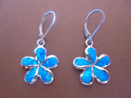 Opal Frangipani Lever Back Earring 18mm