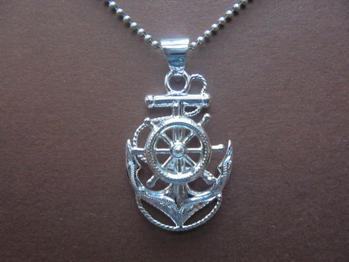 Anchor with Engraving Pendant